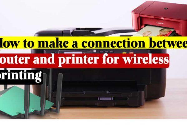 connect printer wirelessly