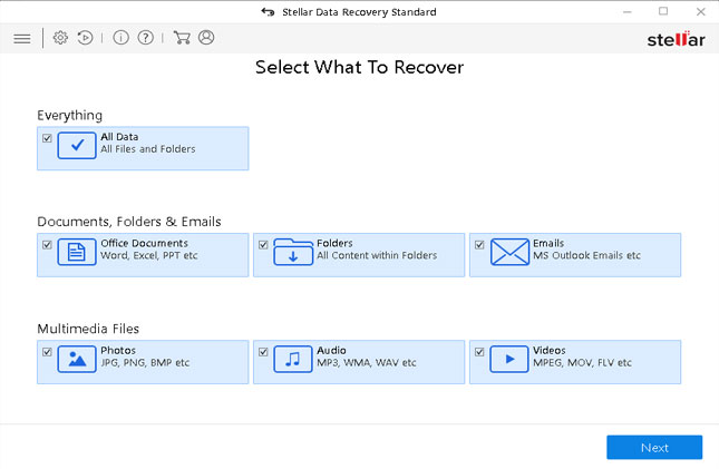 Stellar Data Recovery software-